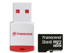 Карта памяти Transcend microSDHC 32 GB Class 10 + RDP3 Card Reader (TS32GUSDHC10-P3) для телефона или планшета