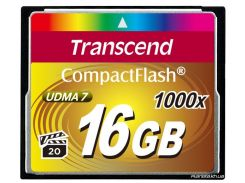 Карта памяти Transcend Compact Flash 16 GB (1000X) (TS16GCF1000) для фотоаппарата
