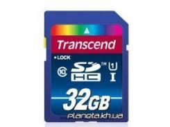 Карта памяти Transcend SDHC 32GB Class 10 UHS-I Premium (X300) (TS32GSDU1) для фотоаппарата