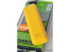 Портативная батарея ( PowerBank ) Golf GF-D3S  LED yellow 6000mah