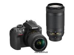 Фотоаппарат Nikon цифровой зеркальный фотоаппарат D3400 + AF-P 18-55 VR + AF-P 70-300VR Kit (VBA490K005)