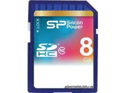 Карта памяти Silicon Power SDHC 8GB Class 10 (SP008GBSDH010V10) для фотоаппарата