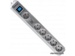 Сетевой фильтр-удлинитель Defender DEFENDER DFS 501 2m 6 роз. 2 USB порта (99051)
