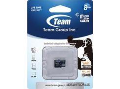 Карта памяти Team microSDHC 8GB Class10 без адаптера (TUSDH8GCL1002) для телефона или планшета