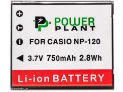 Аккумулятор (батарея) PowerPlant Casio NP-120 (DV00DV1312) + бесплатная доставка