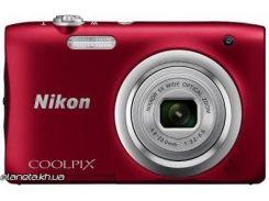 Фотоаппарат Nikon Coolpix A100 Red (VNA972E1)