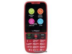 Мобильный телефон Sigma Comfort 50 Elegance 3 1600 mAh Red (4827798233795)