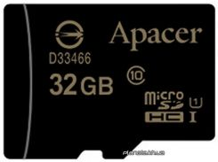 Карта памяти Apacer microSDHC UHS-I 32GB сlass10 без адаптера (AP32GMCSH10U1-RA) для телефона или планшета