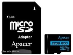 Карта памяти Apacer 32GB microSDHC class 10 UHS-I U1 V10 (AP32GMCSH10U6-R) для телефона или планшета