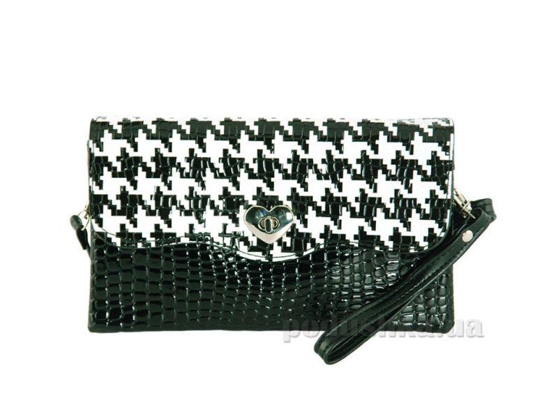 f65a7605fe95 Сумка-клатч женская Traum 7212-04 черный с белым купить недорого за ...