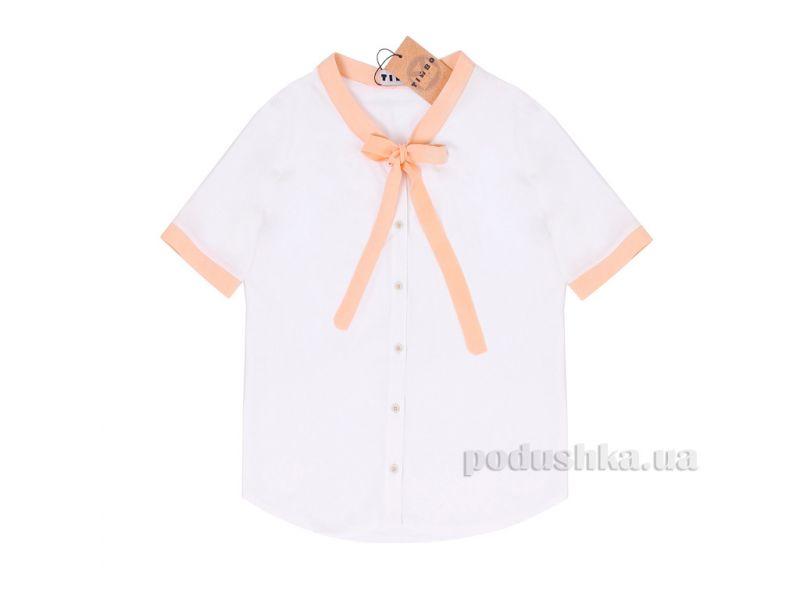 6742d0160be Блузка для девочки Klara Timbo B030692 белая 32 купить недорого за ...
