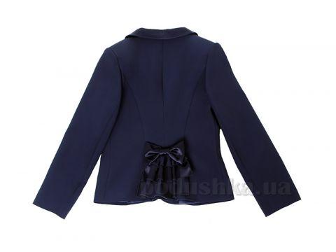 Школьный пиджак с бантом для девочки Purpurino 214202 синий 122 Киев