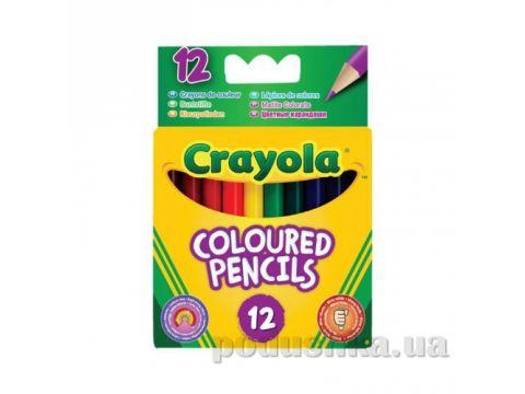 Короткие цветные карандаши 12 шт Crayola 4112 Киев