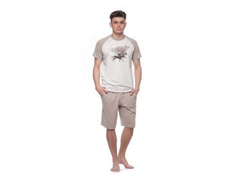 Мужская пижама Ellen MNP 023/001 меланж контраст L Киев