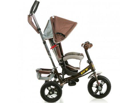 Трёхколёсный велосипед X-Rider GT Trike с надувными колесами Коричневый Киев