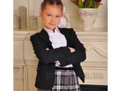 Школьный жакет для девочки Милана ЖД-02104 черный 34 (Р-140, ОГ-68, ОТ-60)