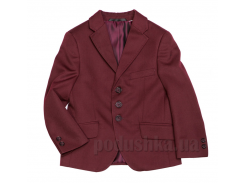 Пиджак для мальчика бордовый Юность 205 30 (Р-116, ОГ-56, ОТ-57)