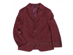 Пиджак для мальчика бордовый Юность 205 32 (Р-128, ОГ-60, ОТ-60)