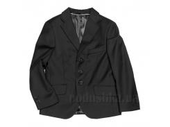 Школьный пиджак на три пуговицы Юность 205 черный 30 (Р-122, ОГ-60, ОТ-60)