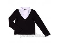 Блуза для школы Юность Д1-126-л черная 30 (Р-122, ОГ-60, ОТ-60)