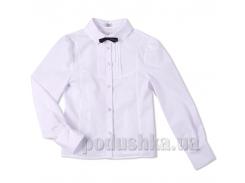 Блуза белая Юность 248 с декоративной кокеткой 36 (Р-146, ОГ-72, ОТ-69)