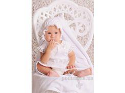 Крестильный комплект для девочки Модный Карапуз 03-00583 62