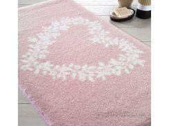 Коврик для ванной Confetti Bella Spring Heart розовый размер 57x100