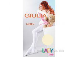 Колготки кремовые зимние для девочки 250 den Merry Giulia Panna 128-134
