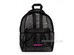 Рюкзак молодежный Poolparty backpack-mesh-black