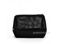 Косметичка-клатч Poolparty Mesh cosmetic-mesh-black