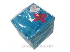 Набор махровых полотенец Arya Butterfly голубой 40х60 см - 4 шт