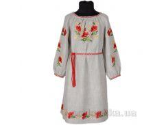 Вышитое платье с поясом для девочки Маки Гармония 128