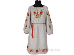 Вышитое платье с поясом для девочки Маки Гармония 134