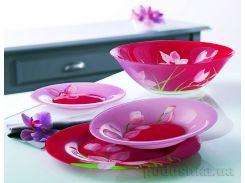 Сервиз столовый Luminarc RED ORCHIS 19 предметов