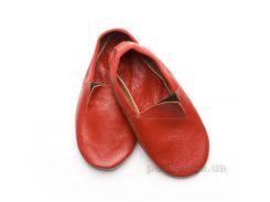 Чешки кожаные Модный Карапуз красные 06-00012 25,5 (16 см)