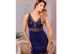 Ночная сорочка Violet delux НС-М-68 синяя L