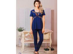 Пижама Violet delux П-М-42 синяя S