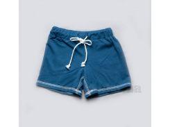 Детские шорты-бермуды для мальчиков Модный карапуз 03-00510 синие поло 128