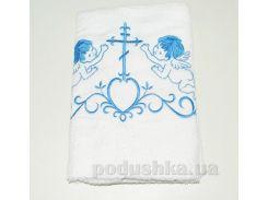 Крыжма для малыша Nostra бело-голубая 100х150 см