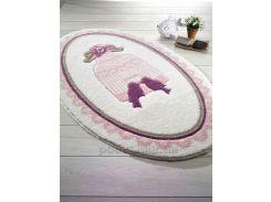 Коврик для ванной Confetti Bird cage Pink розовый 80х130 см овальный