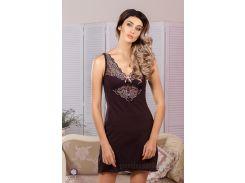 Ночная сорочка Violet delux НС-М-67 шоколадная S