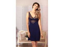 Ночная сорочка Violet delux НС-М-67 синяя S