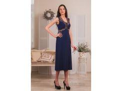 Ночная сорочка Violet delux НС-М-60 синяя XL