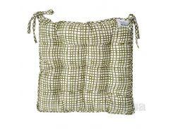 Подушка для стула Прованс Andre Tan оливковая клетка 51152