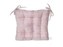 Подушка для стула Прованс Andre Tan розовая клетка 51153 40х40 см