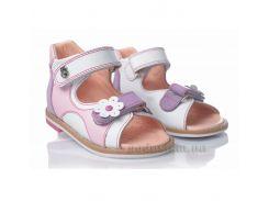Детские босоножки Theoleo 104 бело-розовые 23