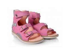 Детские босоножки Theoleo 110 розово-серые 28