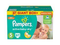 Подгузники Pampers Active Baby-Dry Размер 5 (Junior) 11-18 кг, 87 шт