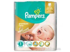 Подгузники Pampers Premium Care New Born Размер 1 (Для новорожденных) 2-5 кг, 88 шт