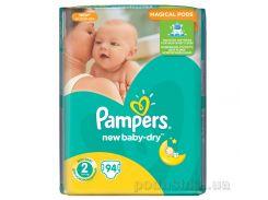 Подгузники Pampers New Baby-Dry Размер 2 (Mini) 3-6 кг, 94 шт